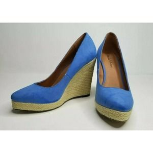 Michael Antonio Blue Espadrille Wedge Sandals 7.5